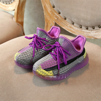 цены Children Shoes Boys Girls Casual Shoes Fashion Breathable Knitting Coconut Comfortable Soft Bottom  Kids Sneaker