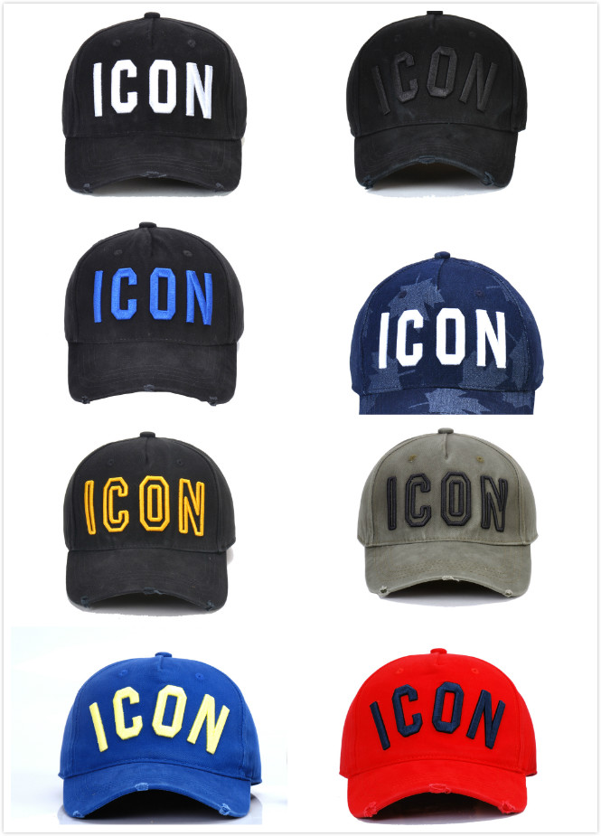 D2 Washed Cotton Baseball Cap ICON Letters Baseball Caps Snapback Hat For Men Women Dad Hat Embroidery Casual Cap 2020 New Cap