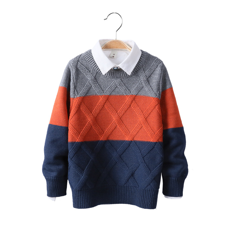 Kids Boys Sweater 2019 Autumn Winter Knitted Cotton Toddler Clothing Kids Pullover Sweater For Boys 3-10 Years Outerwear Coat