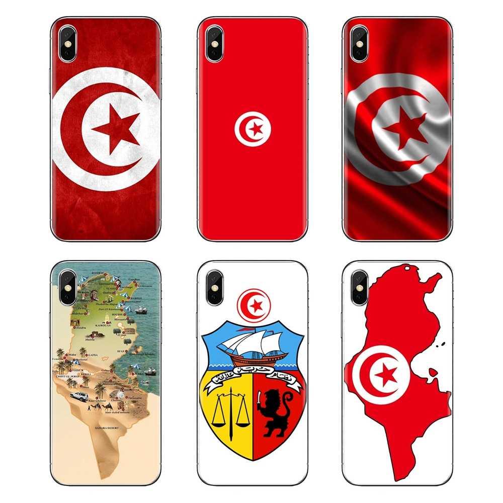 Para Huawei G7 G8 P7 P8 P9 P10 P20 P30 Lite Mini Pro P Smart Plus 2017 2018 2019 Transparente soft Shell Cobre bandeira tunísia