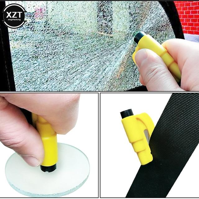 Mini easy to carry car safety hammer 3 in 1 miniature window breaker hammer car key ring shape escaper 1