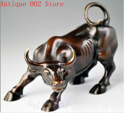 Big Wall Street Bronze Fierce Bull OX Statue