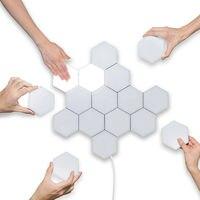 10pcs LED Honeycomb Aisle Touch Sensor Light Modern Sensitive Wall Lights 2020 New Creative Hexagonal Magnetic Tiles Design Lamp