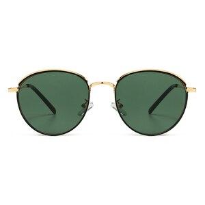 Image 2 - Peekaboo lunettes de soleil rondes rétro pour hommes et femmes, monture métallique, monture estivale, vert, noir, uv400 2020