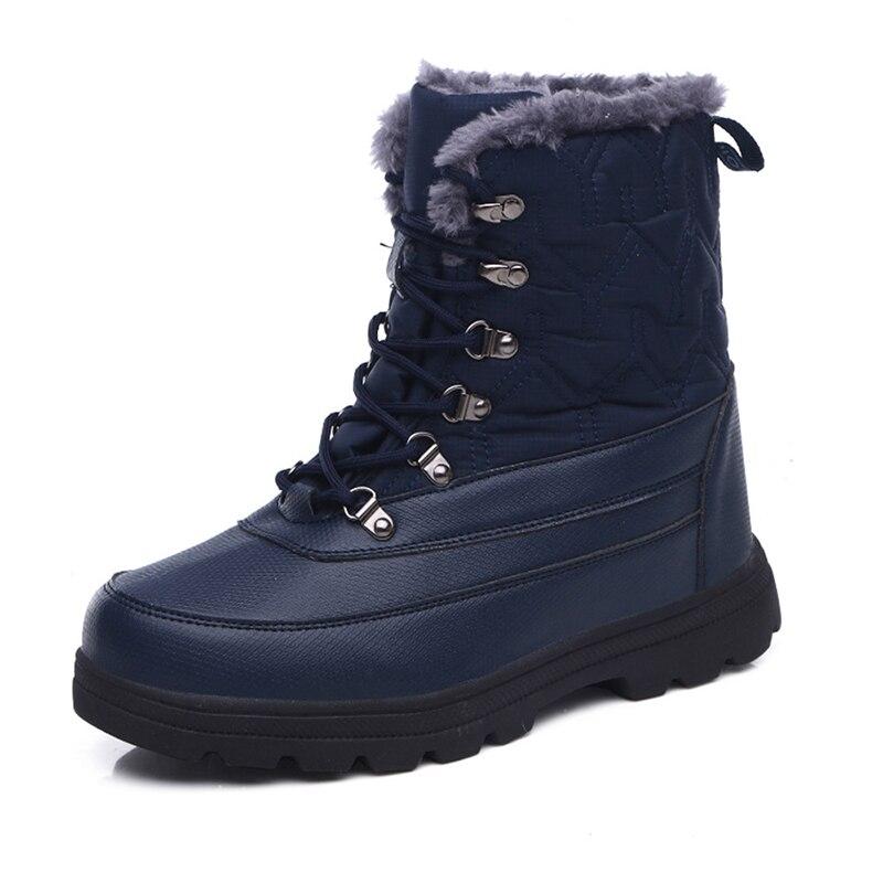 Мужские зимние ботинки; теплые мужские ботинки; высококачественные водонепроницаемые кожаные кроссовки; уличные мужские походные ботинки; рабочие ботинки