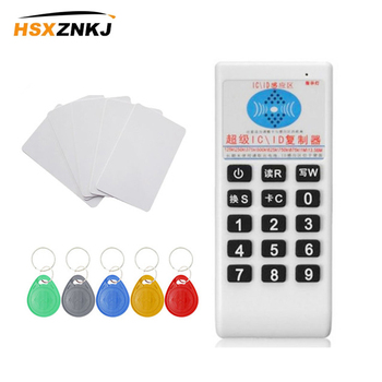 Urządzenie ręczne RFID 125Khz do 13 56MHZ kopiarka duplikator Cloner RFID NFC ID czytnik kart elektronicznych i pisarz karty garnitur czytnik Rfid tanie i dobre opinie HSXZNKJ NONE CN (pochodzenie) 05cd-SUIT white card Reader