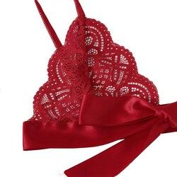 Рождество флирт сексуальное нижнее белье сексуальное белье лук кружева три точки День Святого Валентина сексуальный набор Экзотический на... 5