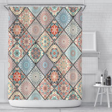 Скандинавская сетка Алмазная мозаика занавеска для ванной богемная