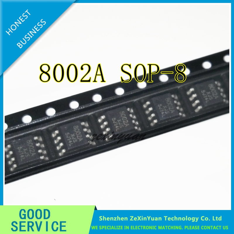 10Pcs MD8002A MD8002 8002A SOP8 3W Audio Amplifier Chip IC
