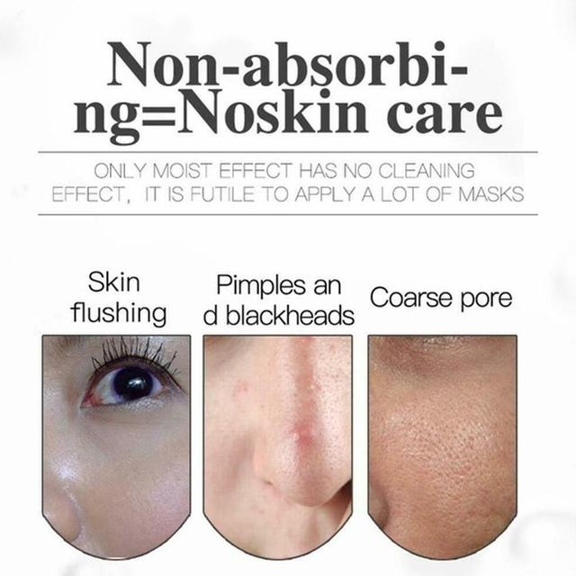Korean Cosmetic Detox Oxygen Bubble Sheet Mask Moisturizing Black Whitening Charcoal Skin Face Mask Care Bamboo B1Q6 1