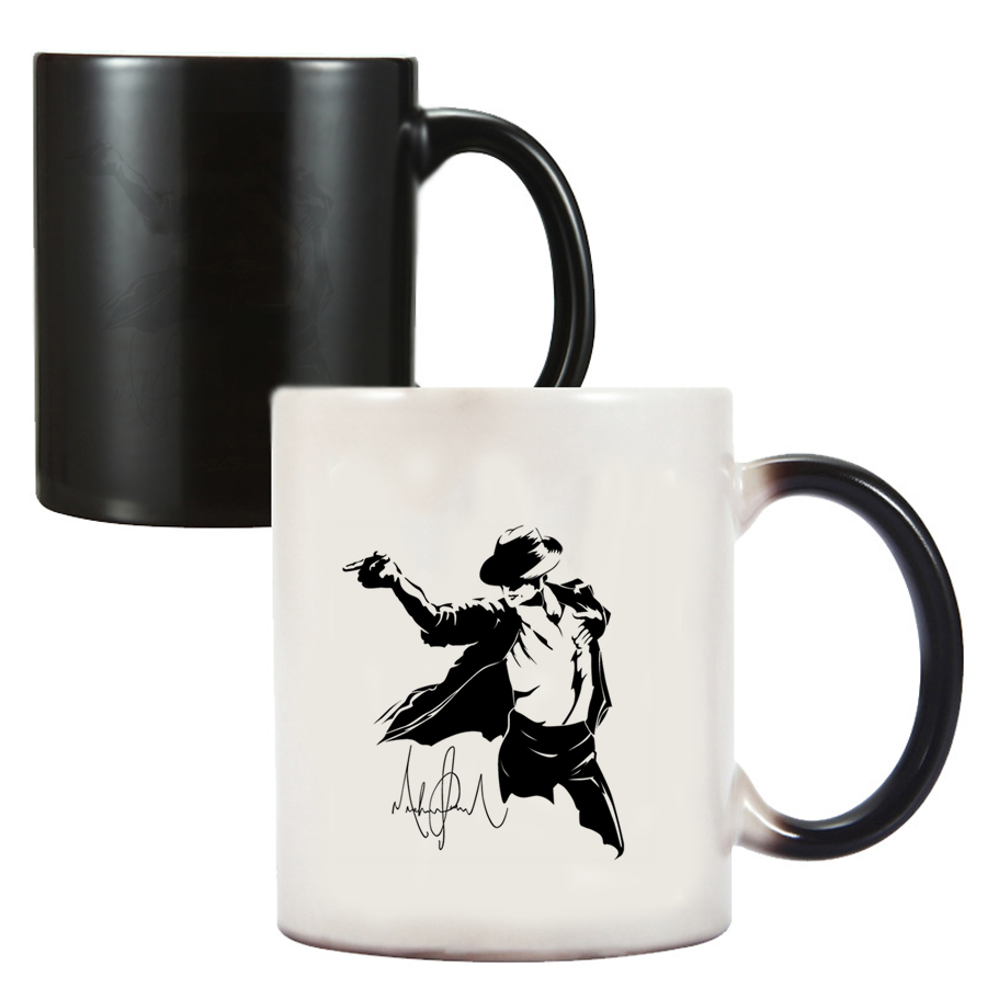 Michael Jackson Dancing Friends Birthday Gifts Color Changing Magic Ceramic Creative Coffee Mugs Tea Cups