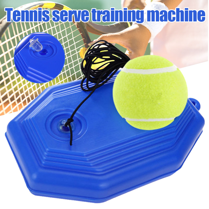1 Set Tennis Trainer Tennis Base+Training Ball With Rope Durable Easy To Use Trainer Baseboard Sparring Device Tool Rebound Ball