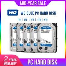 WD ويسترن ديجيتال بلو 1 تيرا بايت 2 تيرا بايت 3 تيرا بايت 4 تيرا بايت Hdd Sata 3.5 قرص صلب داخلي القرص الصلب ديسك دور سطح المكتب HDD للكمبيوتر