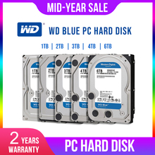 WD Western Digital כחול 1TB 2TB 3TB 4TB Hdd Sata 3.5 הפנימי דיסק קשיח דיסק קשיח כונן קשיח תקליט משך שולחן העבודה HDD עבור מחשב