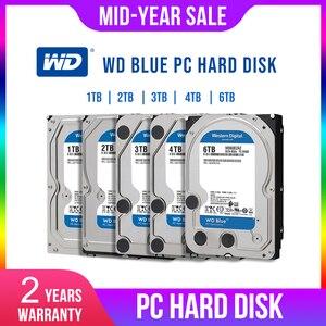 Image 1 - WD Western Digital Blue 1 ТБ 2 ТБ 3 ТБ 4 ТБ Hdd Sata 3,5 внутренний жесткий диск, жесткий диск, диск для ПК
