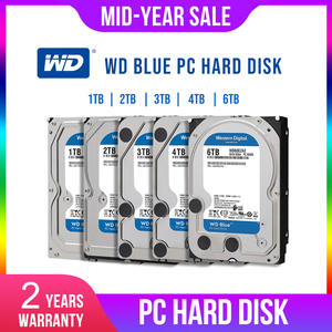 WD 4TB HDD Desktop-Hdd Hard-Disk 3TB Internal Blue Dur Sata 1TB 2TB for PC Digital Disque