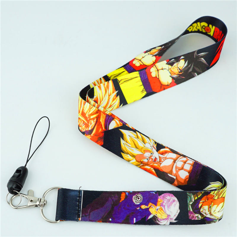 Anime Lanyard DragonBall Pokemon Mobile Phone ID Card Keys Lanyards