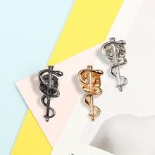 Nurse Doctor Lapel Pin Medical Organization WHO Brooches Metal Snake Stick Badges Shirt Jackets Bag Enamel Pins Fashion Jewelry