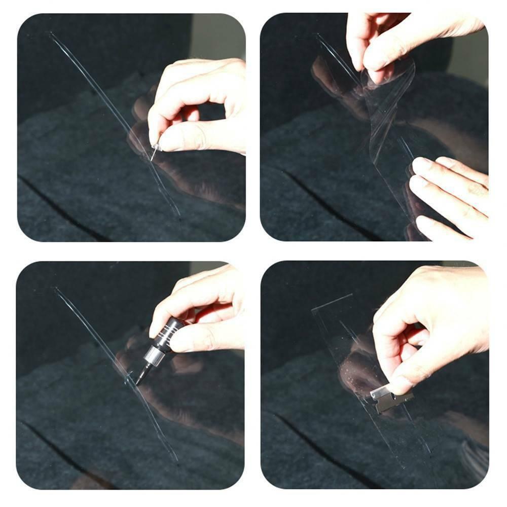 Cured Film Glass DIY Repair Tools Fluid Crack Restore Window Windshield