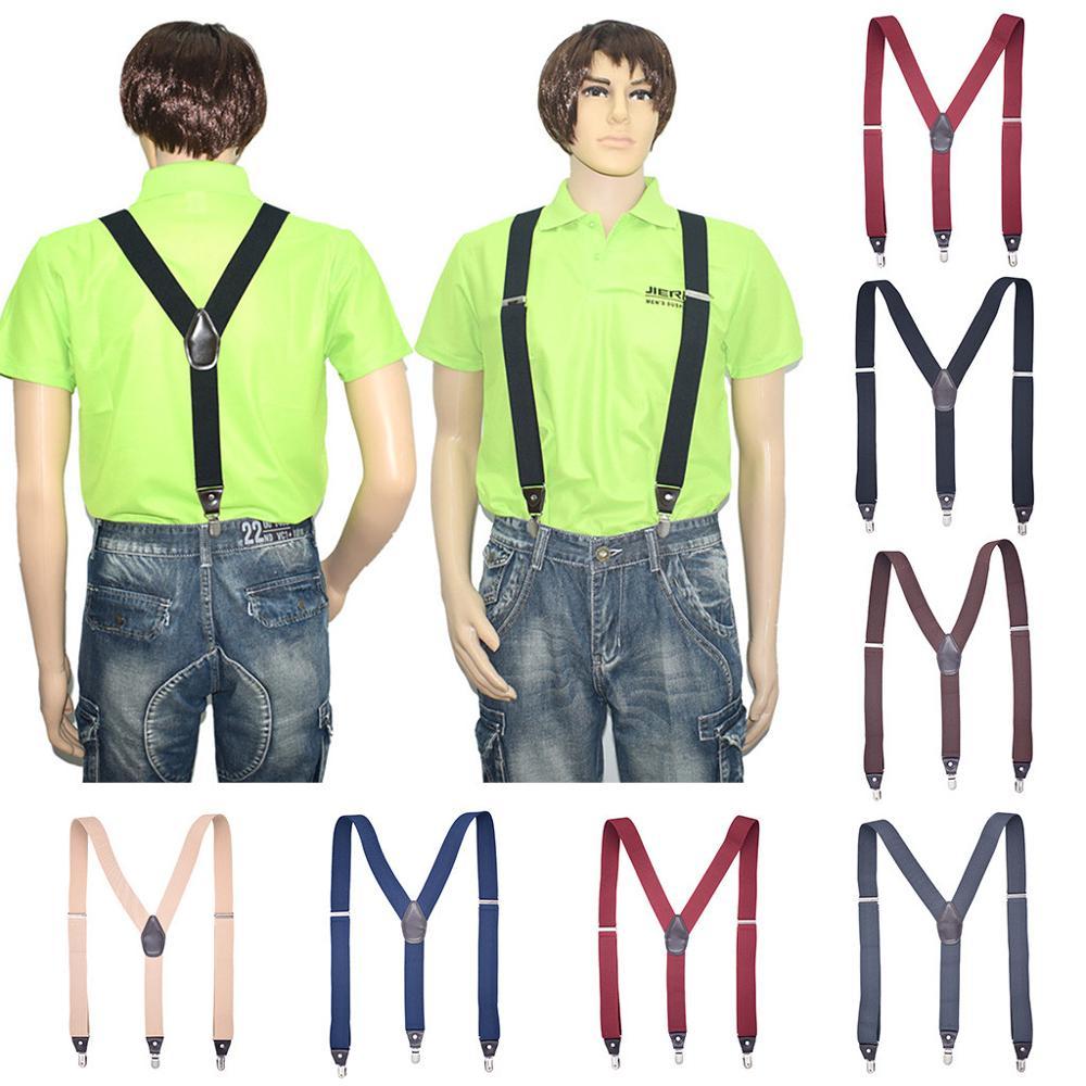 Mens Suspenders Fashion Bts Bangtan Y-Back 3.5cm Wide Bts . Adjustable Braces Solid Szelki Straight Suspenders Clip Suspensorio