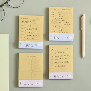 Weekly Daily Planner Cartoon Sticky Notes Stickers Kraft Paper Korean Stationery To Do List Office Supplies Notebook Memo Pad a5 journal refills notebook filler paper narrow ruled 2017 planner to do list office supplies stationery 45 sheets