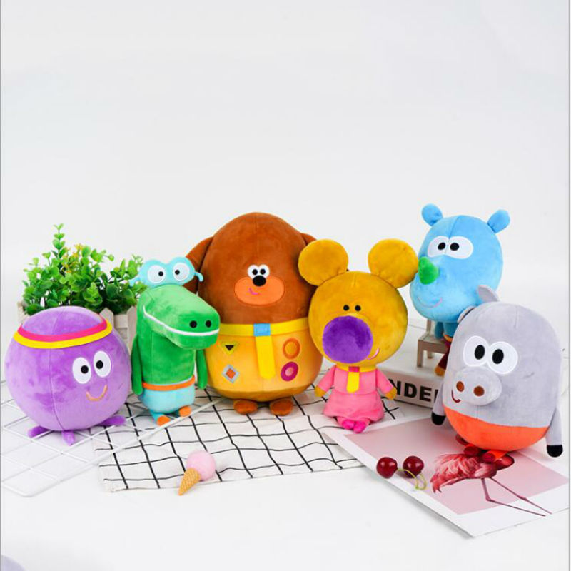 Hey Duggee Teacher Norrie Betty Tag Happy Roly Plush Stuffed Plush Toy Cartoon Animie Doll Birthday Gifts