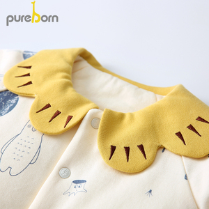 Image 4 - Pureborn Newborn Clothes Set Coat+Pants 2pcs Petal Collar Long Sleeve Thicken Outfits Toddler Boys Girls Suits Spring Winter
