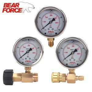 "Image 1 - مقياس ضغط غسالة الضغط العالي ، مقياس الضغط العالي مع تركيب G1/4 ""، مقياس ضغط هيدروليكي 400Bar 6000PSI"