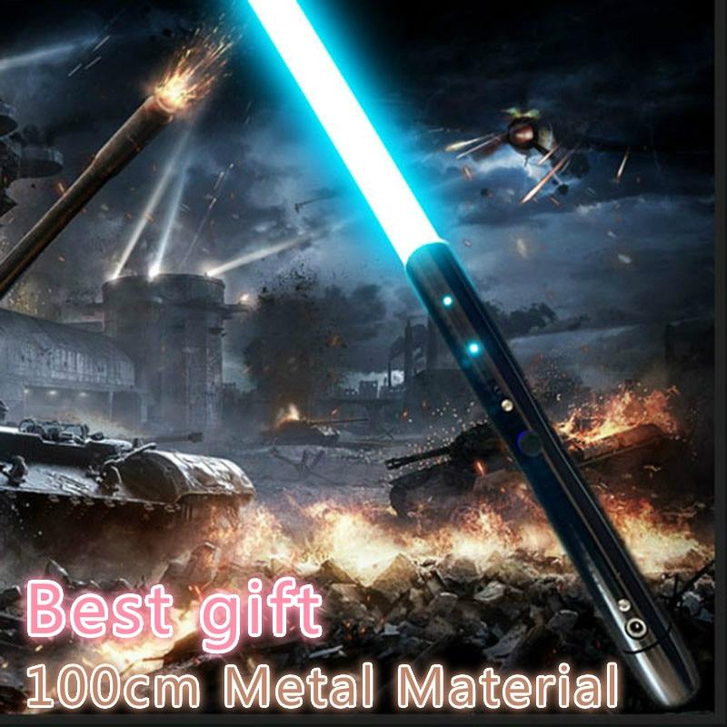 1Pc Lightsaber With Light Sound 5 Watt Lamp Beads Jedi Sith Light Saber Alloy Sword 100cm Sound FOC Lock Up Metal Handle Sword