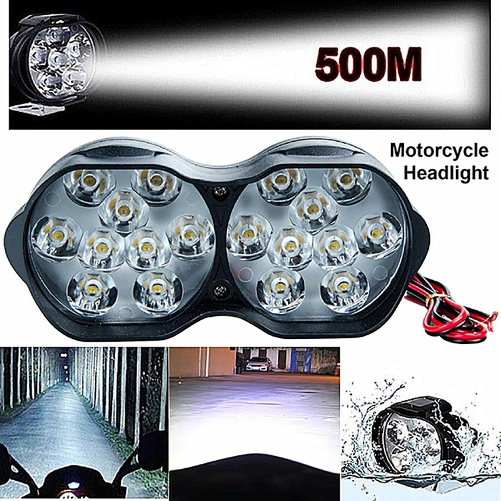 9/18 LED Motorcycle Motorbike Super Bright 3 Modes Headlight Headlamp Spotlight  New Hot Boutique