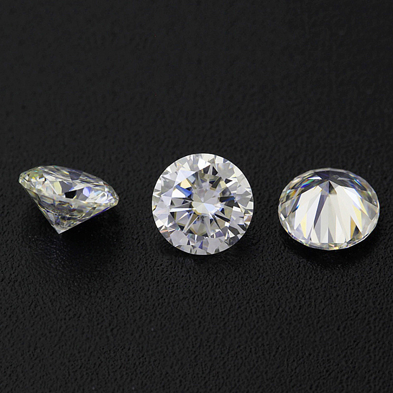 BOEYCJR 0.3ct 4mm D Color Round Brilliant Cut 5mm Moissanite Loose Stone VVS1 Excellent Cut 3E Grade Jewelry Making Stone 2