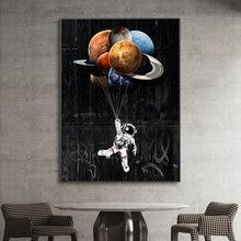 Абстрактные Мультяшные постеры и принты астронавт настенная