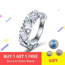 New Design 100% 925 Sterling Silver Classic Wedding Finger Rings with Clear Zircon Fashion Ring for Women Jewelry