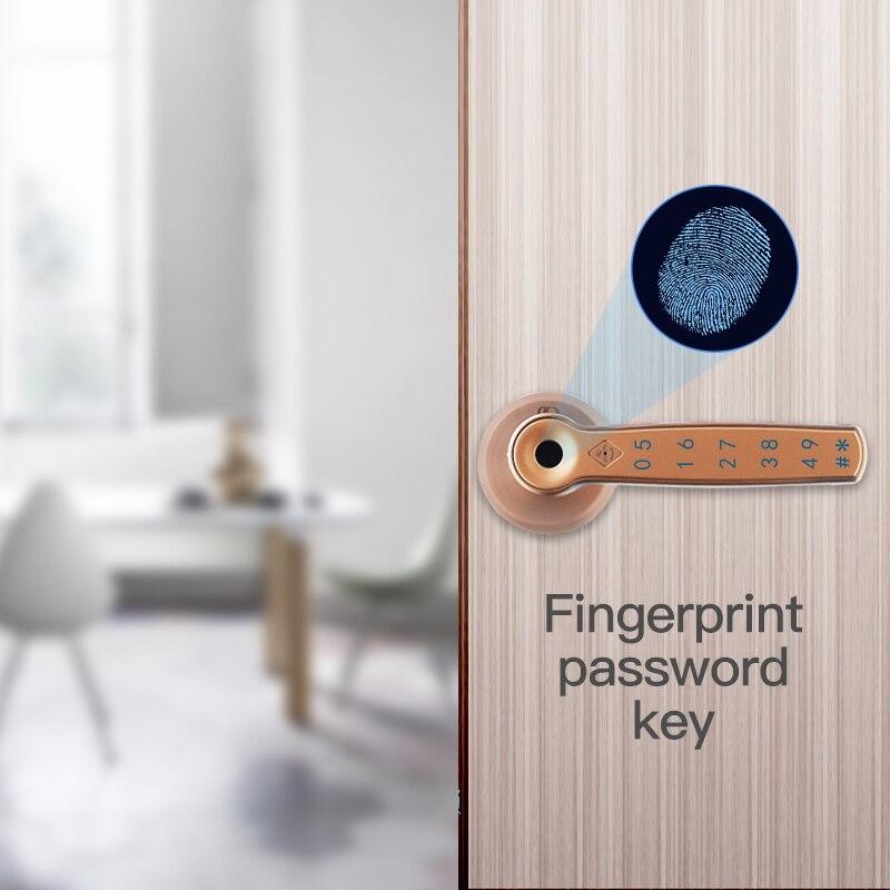 Obawa fechadura da porta de impressão digital biométrica fechadura inteligente com código digital ic cartão desbloquear fechadura da porta eletrônica interna - 3