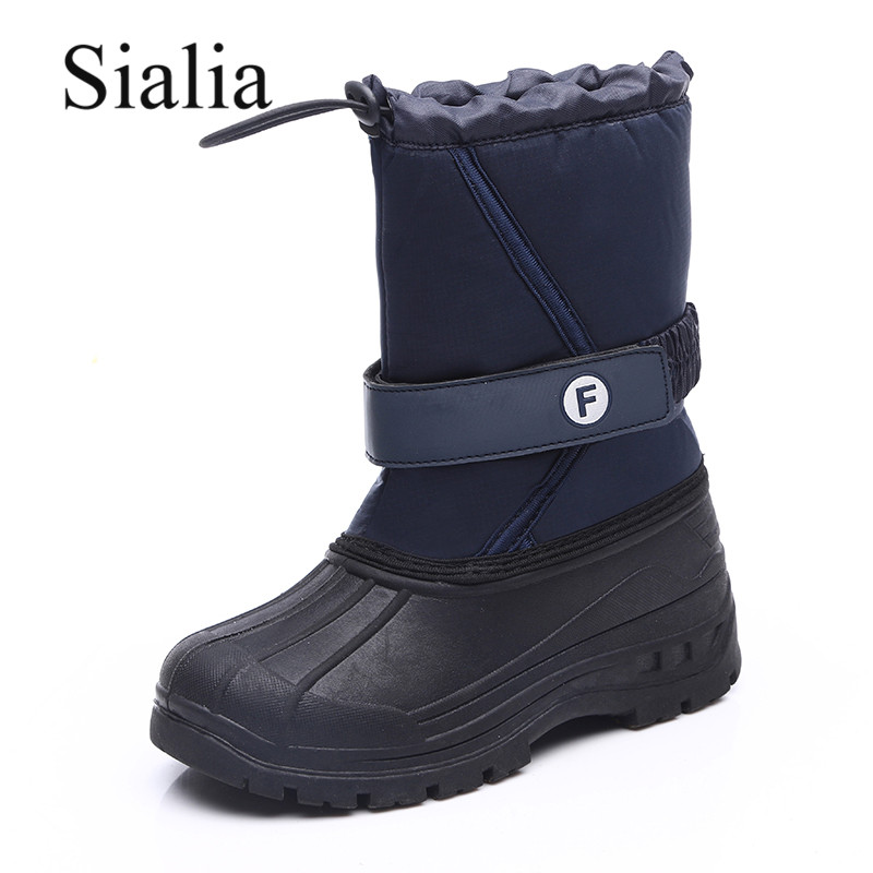 Sialia Winter Boots For Kids Shoes Children Boots Boys Shoes Girls Snow Boots Plush Lining Warm Outdoor Waterproof Anti-slippery