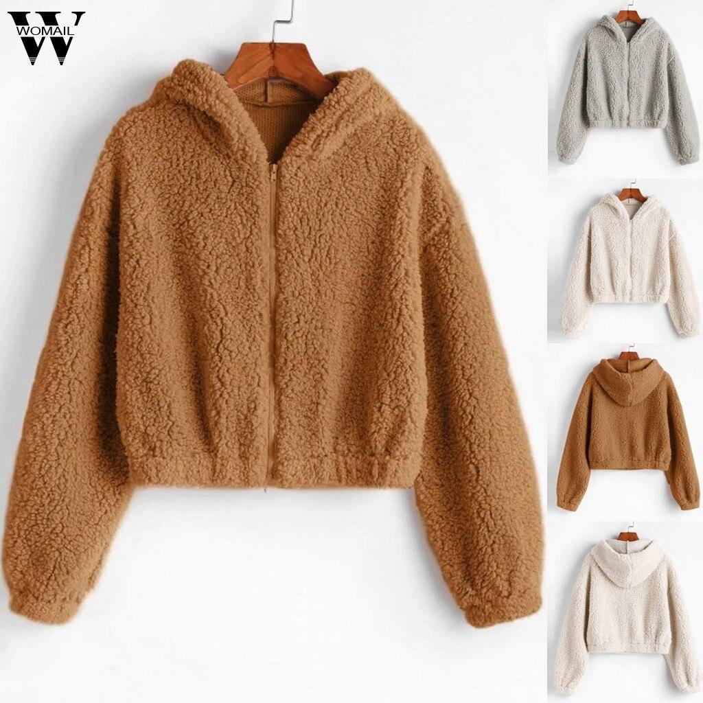 Womail Sweatshirt Women Winter Harajuku Zipper Pullover Loose Women Hoodies Sweatshirt Female Plush Sweatshirt Korean Hoodie 927