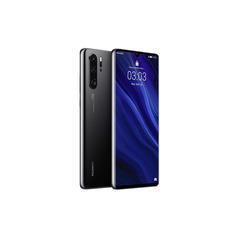 Huawei P30 Pro, Black Color (Black), Dual SIM, 12 8GB Memoria Internal, 8GB RAM, Screen 6.47