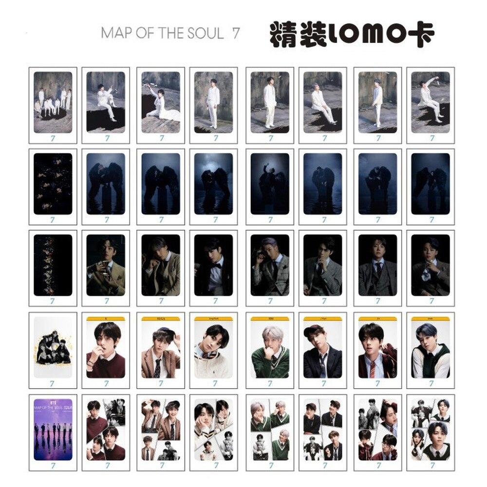Peta Jiwa 7 Suga Jin JUNGKOOK Jimin Jhope V RM KPOP STAR LOMO Kartu Kartu Foto