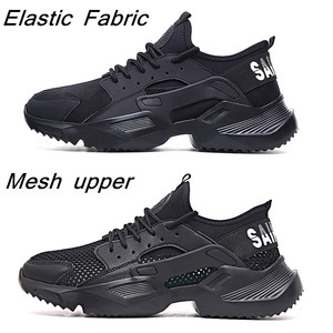 Image 4 - Lizeruee Lightweight Safety Shoes Men Shoes Steel Toe Anti Crush Work Breathable Sneakers Wear Resistance Zapatos de trabajo