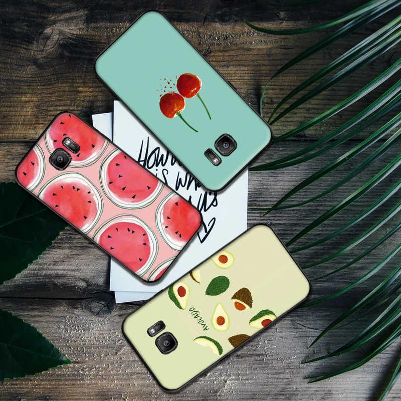 Buah Lembut Silicone Ponsel Case untuk Samsung A3 4 5 6 Plus 7 8 910 20 30 40 50 60 70 2018 M40 J6 Tritone