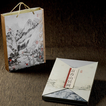 ShaoFu Silk Stamp Books Fuchun Mountain Residence Home Decoration Business Gifts For Foreigners Stamps Chinese Famous Paintings