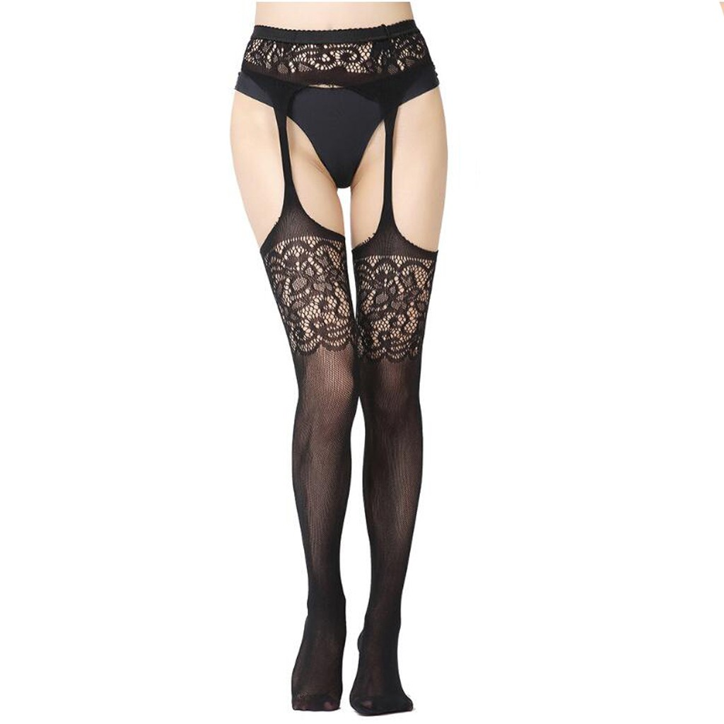 Sleepwear New Sexy Womens Fishnet Tights Plus Size Lace Suspender Pantyhose Stocking Erotic Sets Сексуальное нижнее белье#2