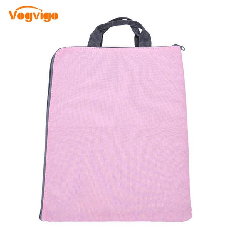 VOGVIGO Large Canva A4 File Folder Document Bag Business Briefcase Paper Storage Organizer Bag Stationery School Office Supplies