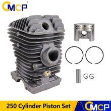 1Pc 42.5Mm Diameter Cilinder En Zuiger Set Voor Stihl Kettingzaag 250 Benzine Kettingzaag Onderdelen