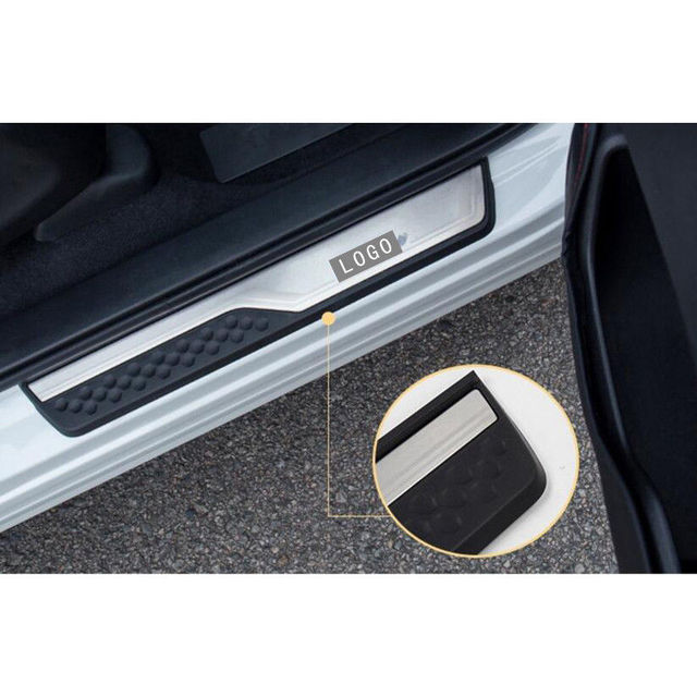 Car Accessories External Door Sill Protector Welcome Pedals Scuff Plate Guards Covers Trim 4Pcs For Honda CRV CR-V 2017 2018 5