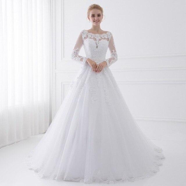 Lace O-Neck Wedding Dress 5