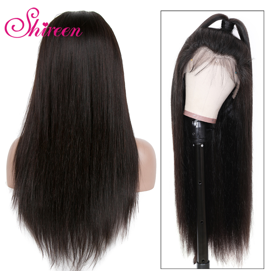 Shireen Straight Lace Front Human Hair Wigs Pre Plucked Remy Brazilian Wigs Long Straight Human Hair 13x4 Lace Frontal Wigs