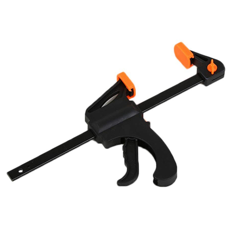 6 Inch Wood Working Bar F Shape Clamp Grip Ratchet Release Squeeze DIY Hand Tool Hand Tool Sets     - title=