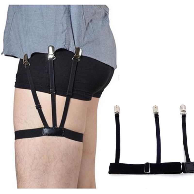 1 Pair Mens Shirt Stays Garters Holder Adjustable Shirt Holders Resistance Belt Shirt Suspenders For Men Locking Clamp Unisex W3