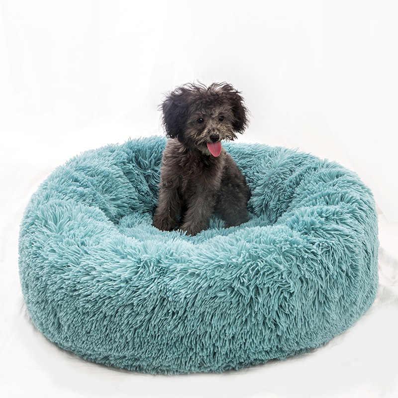 Lange Pluche Super Zachte Hond Bed Huisdier Kennel Ronde Slaapzak Ligstoel Kat Huis Winter Warm Sofa Mand Voor Kleine medium Grote Hond